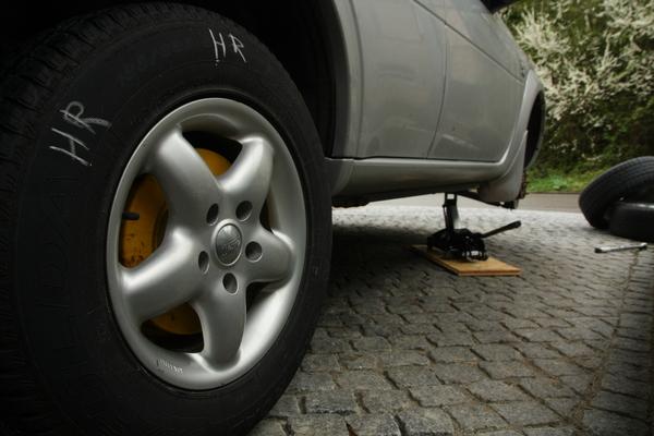 Reifenwechsel Freelander