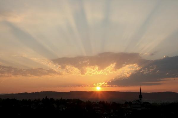06:16 - Sonnenaufgang Wahlwies