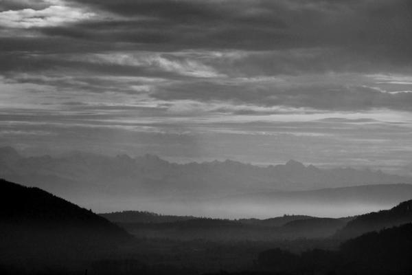 Alpensicht von der Nellenburg