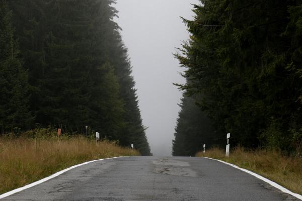 Straße nach Tschechien