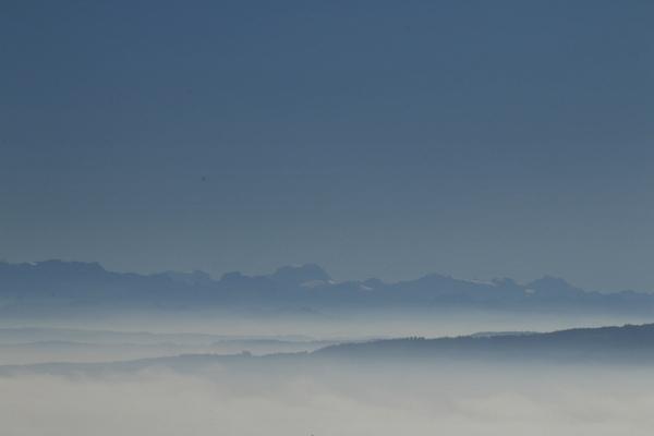 Alpen in Sicht