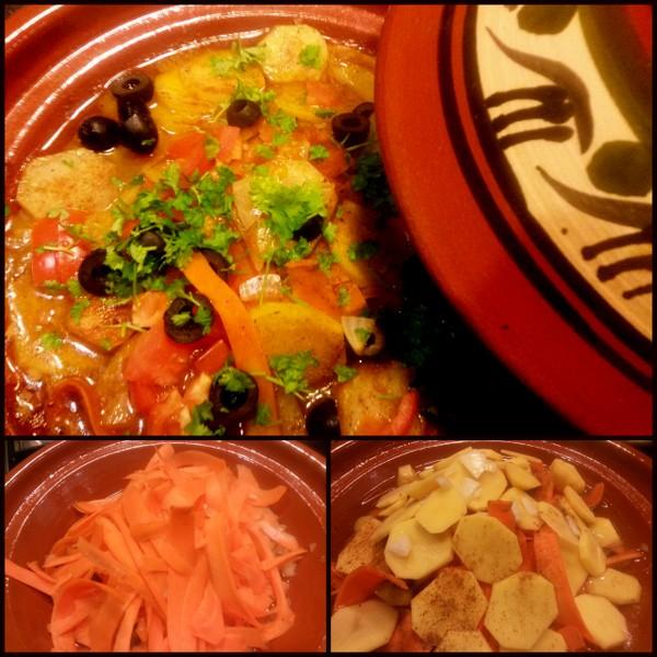 Dinner aus dem marokkanischen Blumentopf