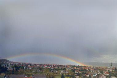 Regenbogen über Wahlwies