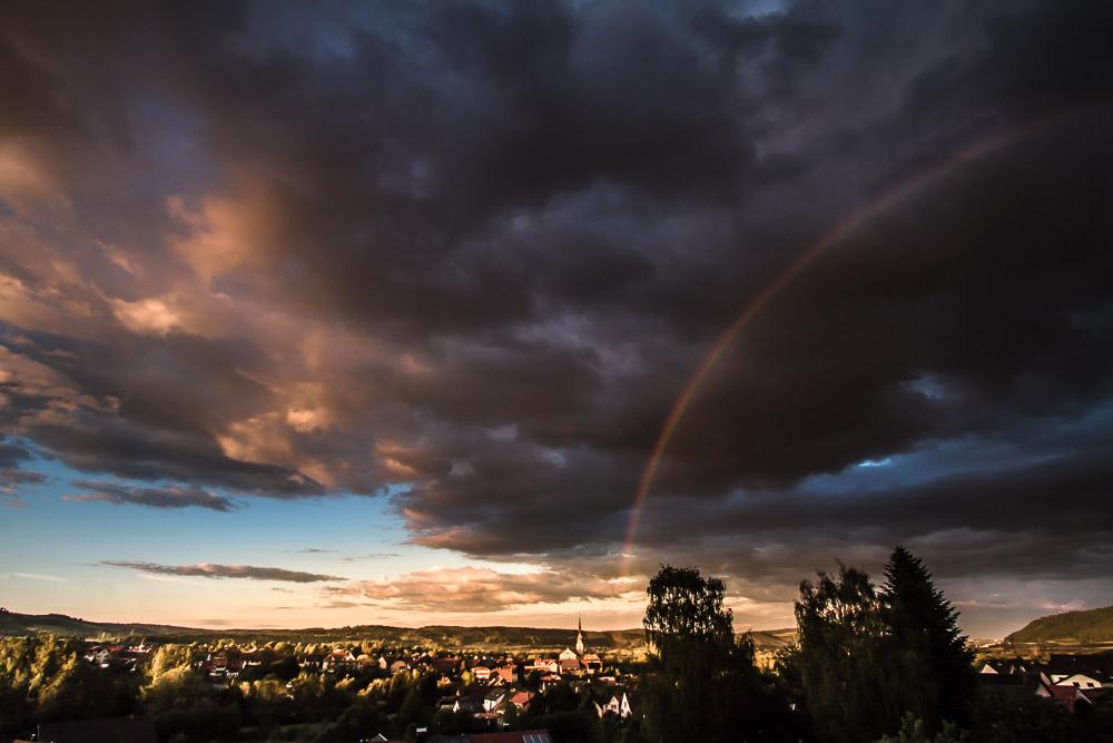 Regenbogen über Wahlwies - 20:40