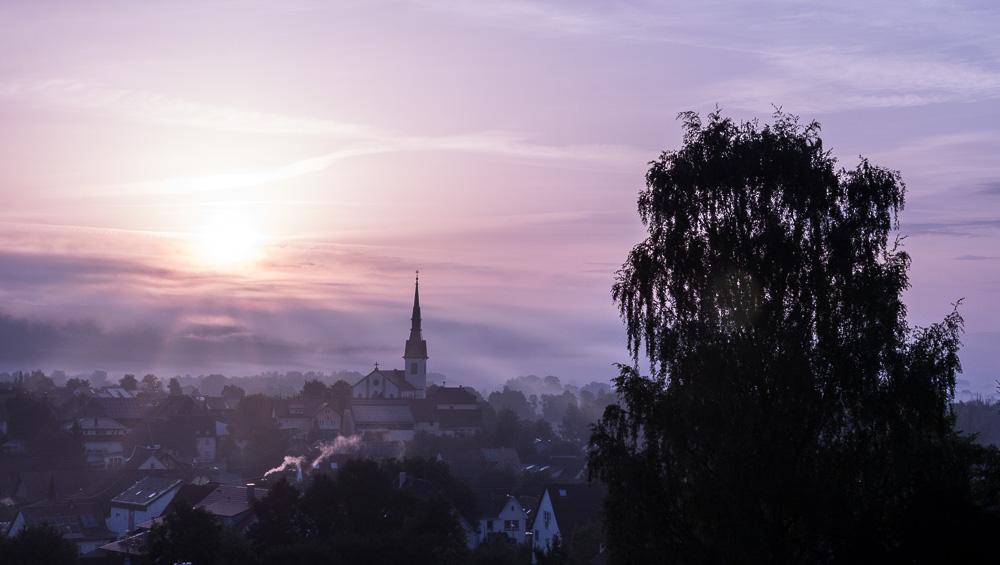 Wahlwies - 06:30: Sonnenaufgang