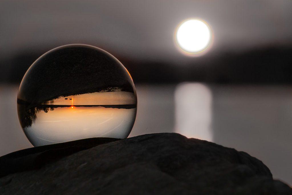 Bodensee in der Glaskugel
