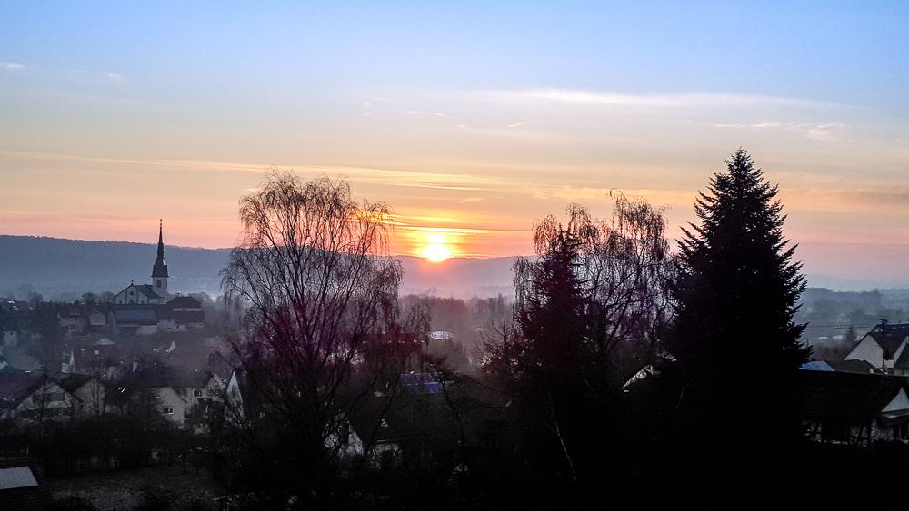 Sonnenaufgang Wahlwies
