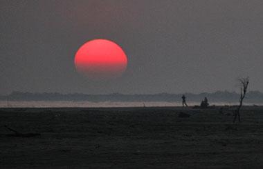 Sonnenuntergang am Strand von Piemanson